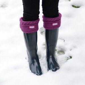 Hunter Pink Purple Waffle Rain Boot Socks M NEW Jedy RARE SOLD OUT S L Unique