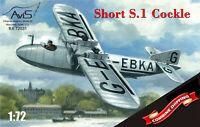 AVIS 72031 Short S.1 Cockle flying boat scale plastic model kit 1/72