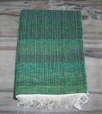 Reversible Handmade Chindi Rag Rug Vintage Dari Indian Floor Mat Carpet Green Au