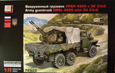 1/72 Ural 4320 army guntruck with Zu 23x2 AA gun model kit with photo-etched set