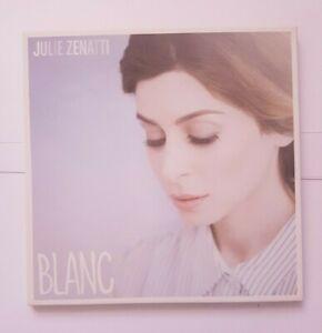 JULIE ZENATTI : BLANC (tt. FIORI, DA SILVA) ♦ CD ALBUM PROMO + PLAN MEDIA LUXE ♦