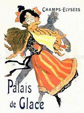 COMMERCIAL ADVERT PALACE PALAIS GLACE ICE PARIS FRANCE POSTER ART PRINT BB1962A