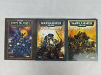 Warhammer 40k Space Marines Codex Lot Of 3 By Games Workshop