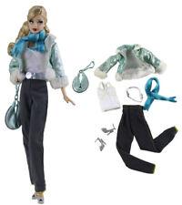 7in1 Set Fashion Coat+vest+pants+shoes+bag+scarf+belt FOR 11.5in.Doll Clothes