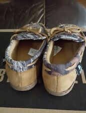 M&F Western Moccasin Slippers Dbl Barrel Youth Kids Size 3/4 Camo