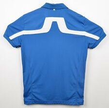 J. Lindeberg Men's Sz Large Regular Fit KV Reg TX Jersey Blue Golf Polo Shirt