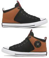 New CONVERSE Chuck Taylor Street Mid Sneaker Mens tan black all sizes