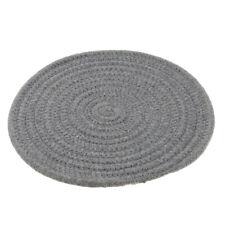 24cm Diameter Placemat Dining Table Braided Mat Tableware Utensil Dark Grey
