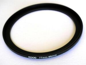 STEP UP ADAPTER 77MM-86MM STEPPING RING 77MM TO 86MM 77-86 FILTER ADAPTER