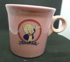 1994 Homer Laughlin Fiesta PORKY PIG Pink Coffee Mug
