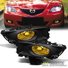 07-09 Mazda 3 Mazda3 Sedan Yellow Bumper Fog Lights +Switch Left+Right 2007-2009