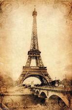 EIFFEL TOWER VINTAGE - ART POSTER - 22x34 SCENIC PARIS FRANCE 13411