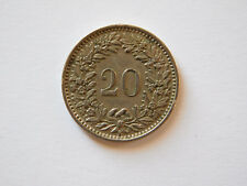 Switzerland 20 Rappen Coin 1953, miedzionikiel /copper-nickel