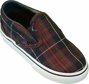 Vans Classic Slip On ~ (Plaid) Dress Blues ~Toddler/Infant Shoes ~ new in box