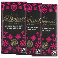Divine 70% Chocolat Foncé Avec Les Framboises (3 Pack ou Multi-Achat) 90 g Chaqu...