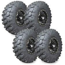 "32"" Maxxis Carnivore Tires 15"" STI HD9 Beadlock Wheels Black Polaris RZR Turbo"