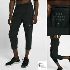 NIKE RUN DIVISION FLEX Mens Cropped Running Pants Large 922034-010 Black Heather