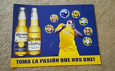 MEXICAN SOCCER LEAGUE CORONA BEER 2 BY 3 FEET METAL SIGN.RARE