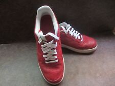 Men's Limited Edition Nike Red Leather Air Force 1  Sneakers Tennis Shoes size 9