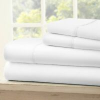 `AU Bed Sheets All Size 1000 Thread Count-100% Egyptian Cotton White Solid