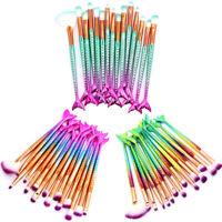 15pcs Mermaid Eye Makeup Brush Set Foundation Powder Blush Eyeshadow Brushes Kit