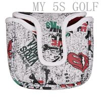 1X Skull Square Putter Cover Golf HeadCover for Odyssey Taylormade Spider scotty