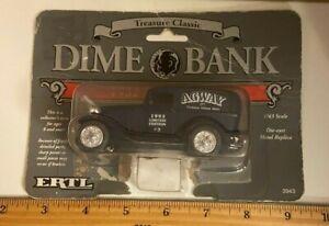 Vintage ERTL 1932 Panel Truck Dime Bank 1/43 Scale