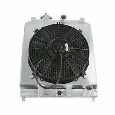 3 ROW CORE ALUMINUM RADIATOR +SHROUD FAN FOR 1992-2000 Honda CIVIC EG EK B16 B18
