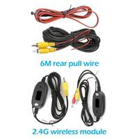 20ft RCA Video Cable Wireless Video Transmitter Receiver for Car Parking Camera