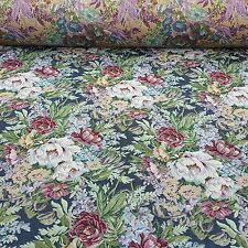 Deko Möbel Patchwork Stoffe Gobelin Vorhang Gardine Bezug Blumen Muster