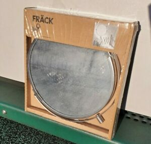 Ikea FRACK • Wall Mount Bath Bathroom Magnifying Mirror Stainless Steel - New