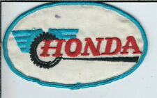 AT-153 Honda Blue Border Embroidered Cloth Patch 4.5x2.75-inches