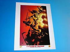 Wolverine Vs Hand Ninja X Men Lithograph Marvel Comics Adam Kubert Isanove