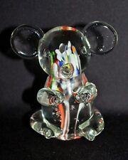 Gorgeous Glass KOALA FIGURINE Millefiori Style Glass