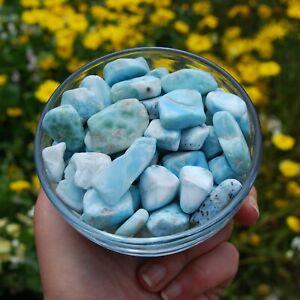 ONE Larimar Crystal Tumbled Stone