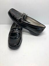 Rockport Women's Shinny Black Leather Loafer Flats Moccasin Comfort Shoes Sz 7.5