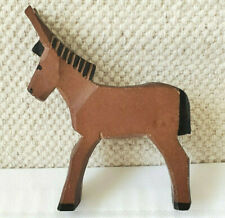 Hand Carved Small Wood Donkey/Mule Figurine
