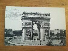 CPA ANCIENNE - PARIS - ARC DE TRIOMPHE - 1922
