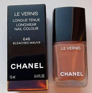 chanel nail polish 646 BLEACHED MAUVE rare limited edition BNIB