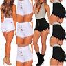 Women Girls High Waist Denim Shorts Beach Jeans Hot Pants Tassel Short Bottoms