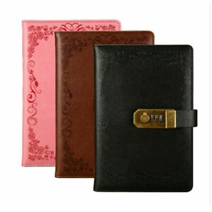 DIY Leather Code Lock Password Notebook Secret Diary Lined Travel Journal Gift