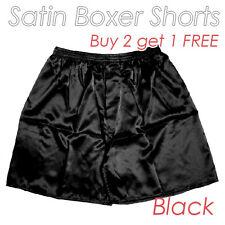 Men's Silky Soft Poly Satin Underwear Homewear Underpants Boxer Shorts Buy2 get1