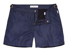 "Orlebar Brown Luxury Setter X Bulldog 32"" W Navy Blue Swim Shorts Gold Detail"