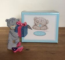 ME To YOU / Tatty Teddy with a Present Figurine Ornament in Box - A Gift For You