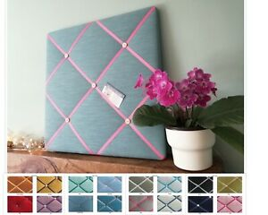 Washed Linen Fabric Custom Made Pin/Memo/Notice/Memory Board 8 sizes 16 colours