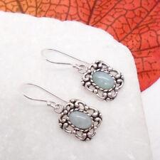 Amazonit Aqua blaugrün Nostalgie Design Ohrringe Ohrhänger 925 Sterling Silber