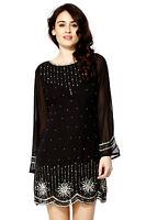 New Black 1920's Gatsby fully embellished shift dress sizes 8 10 12 14 16 18 20