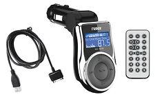 Naxa NI-3215 IPOD / iPHONE Car Charger / FM Radio Transmitter AUX Input USB SD