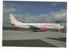 Holidays Czech Airlines Boeing 737 at Prague Aviation Postcard, A637