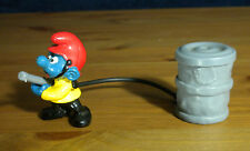 Smurfs Fireman Super Smurf Firefighter Vintage Figure Toy Lot PVC Figurine 40216